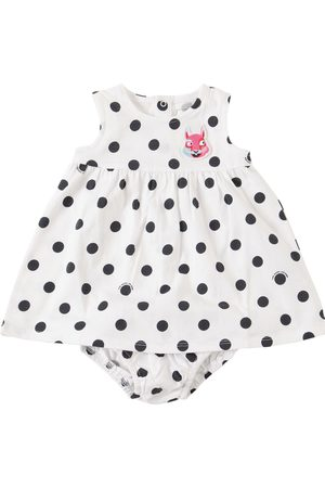 Marc Jacobs Dots Print Jersey Dress & Diaper Cover