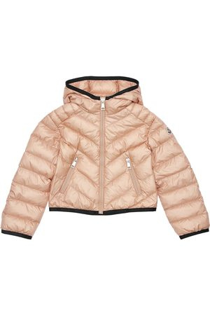 Moncler Girls Jackets - Cexing Hooded Nylon Down Jacket