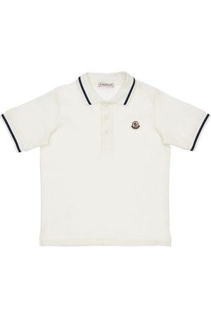 Moncler Boys Polo Shirts - Cotton Piquet Polo Shirt