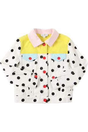 Marc Jacobs Girls Jackets - Dots Print Cotton Twill Jacket
