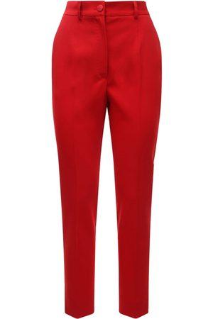 Dolce & Gabbana High Waist Stretch Wool Blend Crop Pants