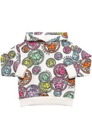 VERSACE All Over Print Cotton Sweatshirt Hoodie