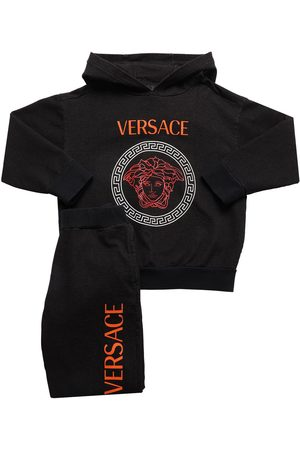 VERSACE Logo Print Cotton Sweatshirt & Pants