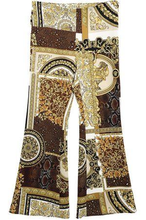 VERSACE Girls Leggings - Baroque Print Stretch Cady Pants