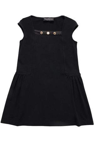 VERSACE Sleeveless Cotton Jersey Dress