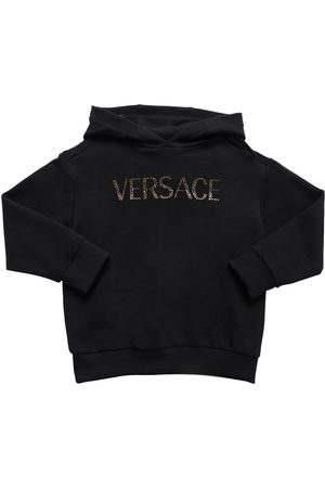 VERSACE Embellished Cotton Sweatshirt Hoodie