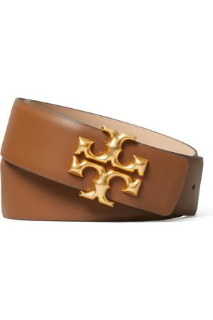 Tory Burch Women's Eleanor Logo Leather Belt