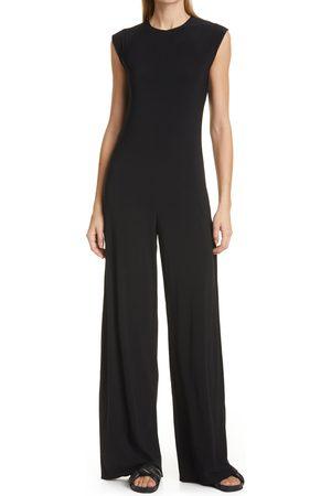 Norma Kamali Women's Kamalikulture Wide Leg Jersey Jumpsuit