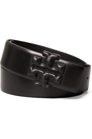 Tory Burch Women's Eleanor Logo Leather Belt