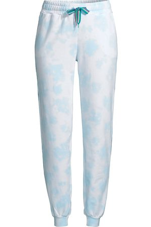 Pitusa Women's Tie-Dye Embroidered Track Pants - - Size Small