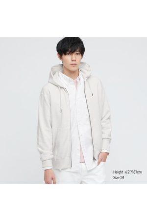 UNIQLO Men's Sweat Long-Sleeve Full-Zip Hoodie, Gray, XXS