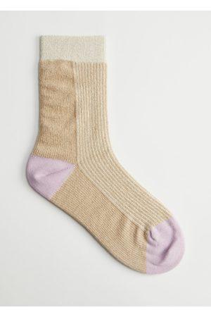 & OTHER STORIES Women Socks - Striped Lurex Socks