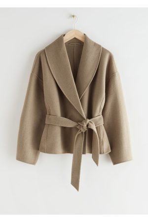 & OTHER STORIES Women Jackets - Belted Wool Blend Jacket