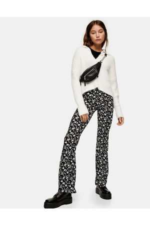 Topshop Flared pants in multi floral