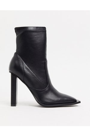 Raid Lavinia heeled sock boots with square toe in