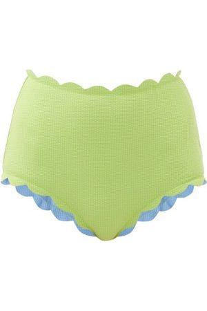 Marysia Santa Monica Scalloped-edged Bikini Briefs - Womens - Light