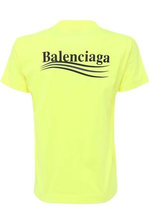 Balenciaga Women T-shirts - Political Logo Vintage Jersey T-shirt