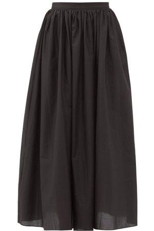 MATTEAU Women Maxi Skirts - Gathered Cotton Maxi Skirt - Womens