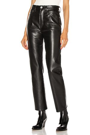 AGOLDE Recycled Leather 90's Pinch Waist in Black