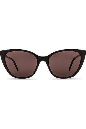 Saint Laurent Acetate Cat Eye Sunglasses in