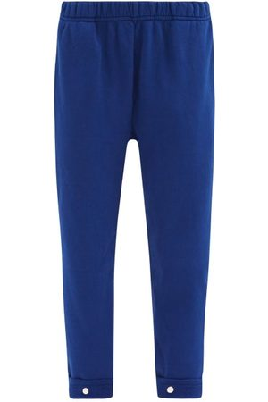 Les Tien Snap-front Brushed-back Cotton-jersey Track Pants - Womens