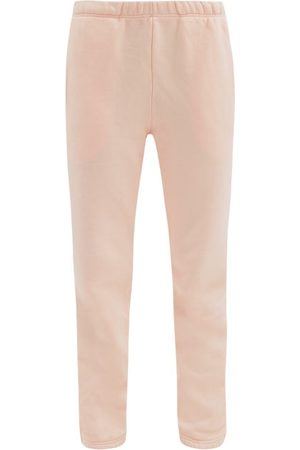Les Tien Classic Brushed-back Cotton-jersey Track Pants - Womens - Light