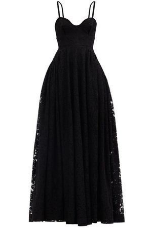 EMILIA WICKSTEAD Diamona Sweetheart-neckline Embroidered-lace Gown - Womens
