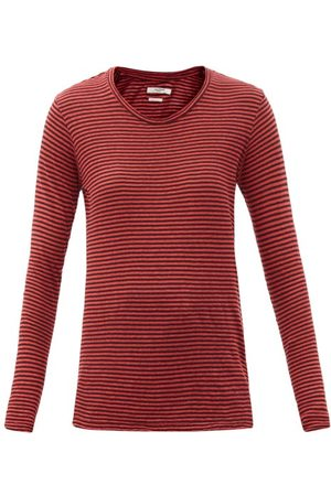 Isabel Marant Kaaron Striped Linen-blend Long-sleeved T-shirt - Womens