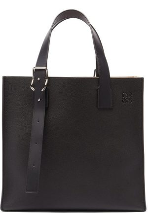 Loewe Men Bags - Buckle Grained-leather Tote Bag - Mens