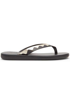 Ancient Greek Sandals Ammos Leather Flip Flops - Womens