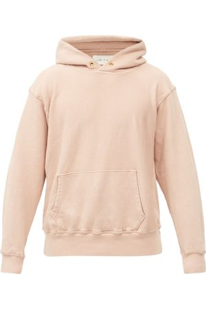 Les Tien Brushed-back Cotton Hooded Sweatshirt - Mens