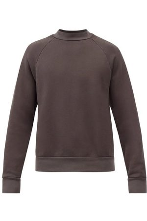 Les Tien - High-neck Brushed-back Cotton Sweatshirt - Mens