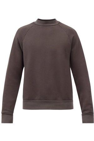 Les Tien Men Sweatshirts - High-neck Brushed-back Cotton Sweatshirt - Mens