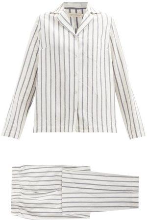 General Sleep Classic Striped Organic-cotton Pyjama Set - Womens - Stripe