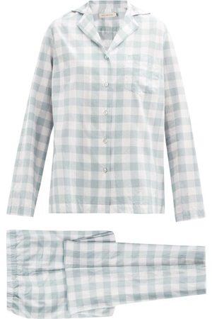 General Sleep Classic Organic-cotton Gingham Pyjamas - Womens - Print
