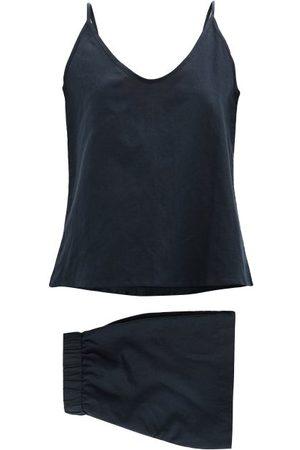 General Sleep Summer Organic Cotton-blend Pyjama Set - Womens - Navy