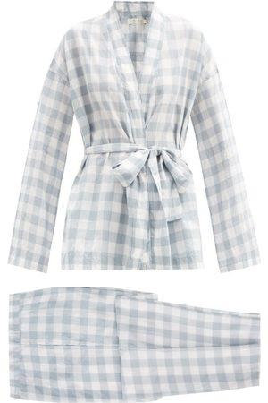 General Sleep Women Pajamas - Wrap Organic-cotton Gingham Pyjama Set - Womens - Print