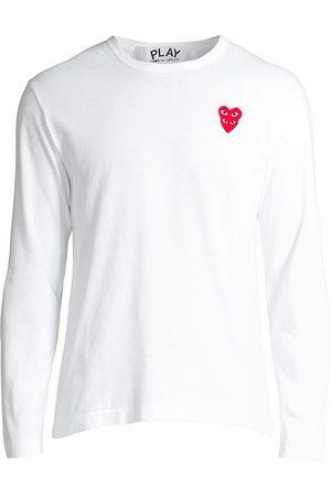 Comme des Garçons Men's Play Double Heart Long-Sleeve T-Shirt - - Size XXL