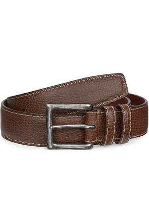 Saks Fifth Avenue Men's COLLECTION Saddle Stitch Leather Belt - - Size 42