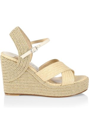 Jimmy Choo Women's Dellena Espadrille Platform Wedge Sandals - Latte - Size 9
