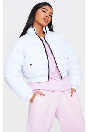 PRETTYLITTLETHING Cropped Bubble Zip Detail Puffer Jacket
