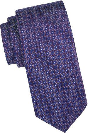 Charvet Men's Neat Diamond Silk Tie