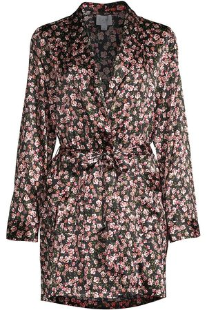 CAMI Women's Anya Starry Night Silk Robe - - Size XS