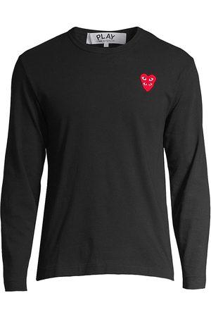 Comme des Garçons Men's Play Double Heart Long-Sleeve T-Shirt - - Size Small