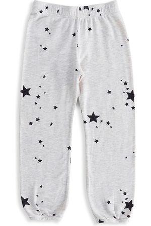 MONROW Little Girl's & Girl's Stardust Elastic Sweatpants - - Size 8