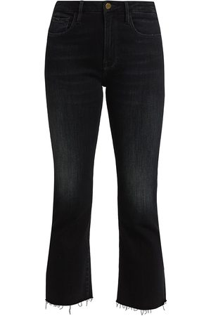 Frame Women's Le Crop Mini Bootcut Raw Edge Jeans - - Size 30 (8-10)