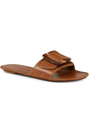 DEFINERY Women's Loop Leather Flat Sandals - - Size 39 (9)