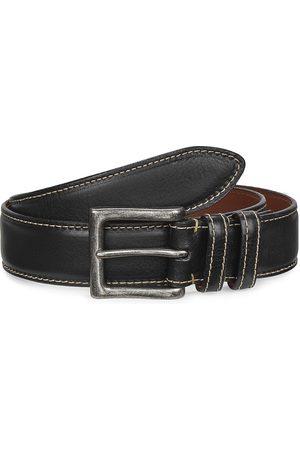 Saks Fifth Avenue Men's COLLECTION Saddle Stitch Leather Belt - - Size 42