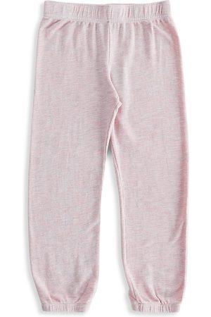MONROW Little Girl's & Girl's Supersoft Elastic Waist Sweatpants - - Size 8