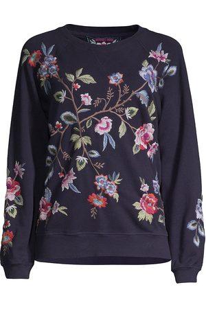 JOHNNY WAS Women's Renata Raglan Embroidered Sweatshirt - - Size XL
